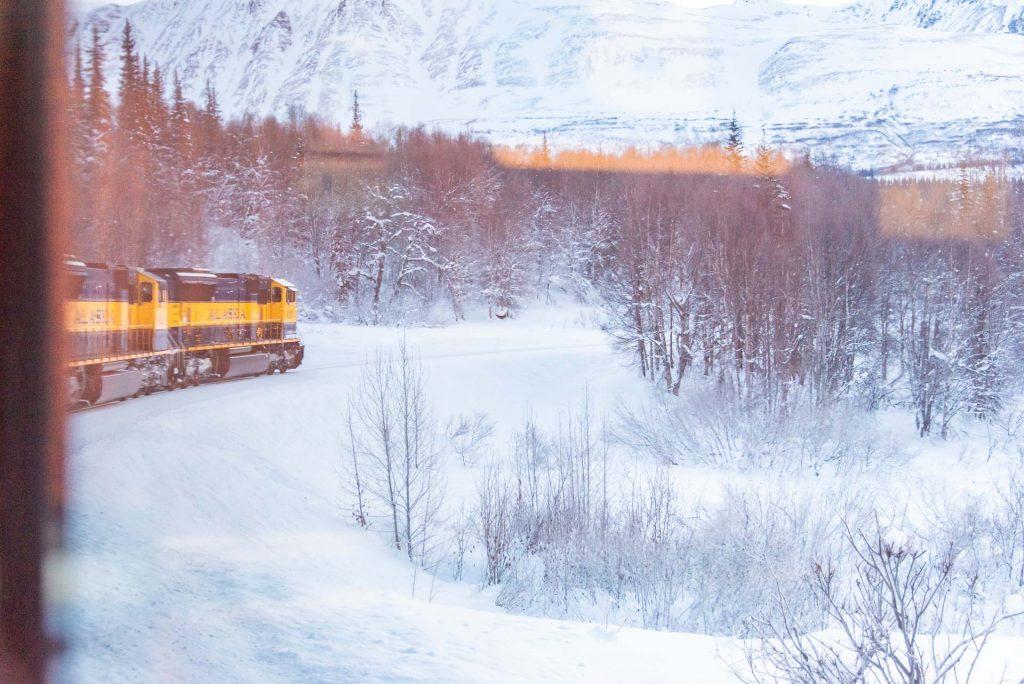 The Best Winter Train Ride In Alaska   Bare Escape