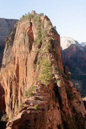 The last stretch of the 5.4mile hike to Angels Landing in Zion National Park in Utah