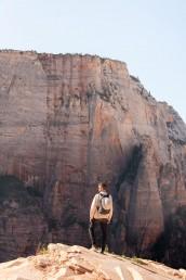 Top views from Angels Landing in Zion National Park in Utah
