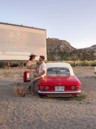 Romantic Drive-in movie theater at Yonder Escalante | Bare Escape