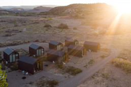 Top view of the cabins at Yonder | Bare Escape