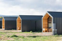 The individual cabins at Yonder Escalante