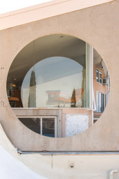 The outside of the Sky Suite AirBnb at Arcosanti | Bare Escape